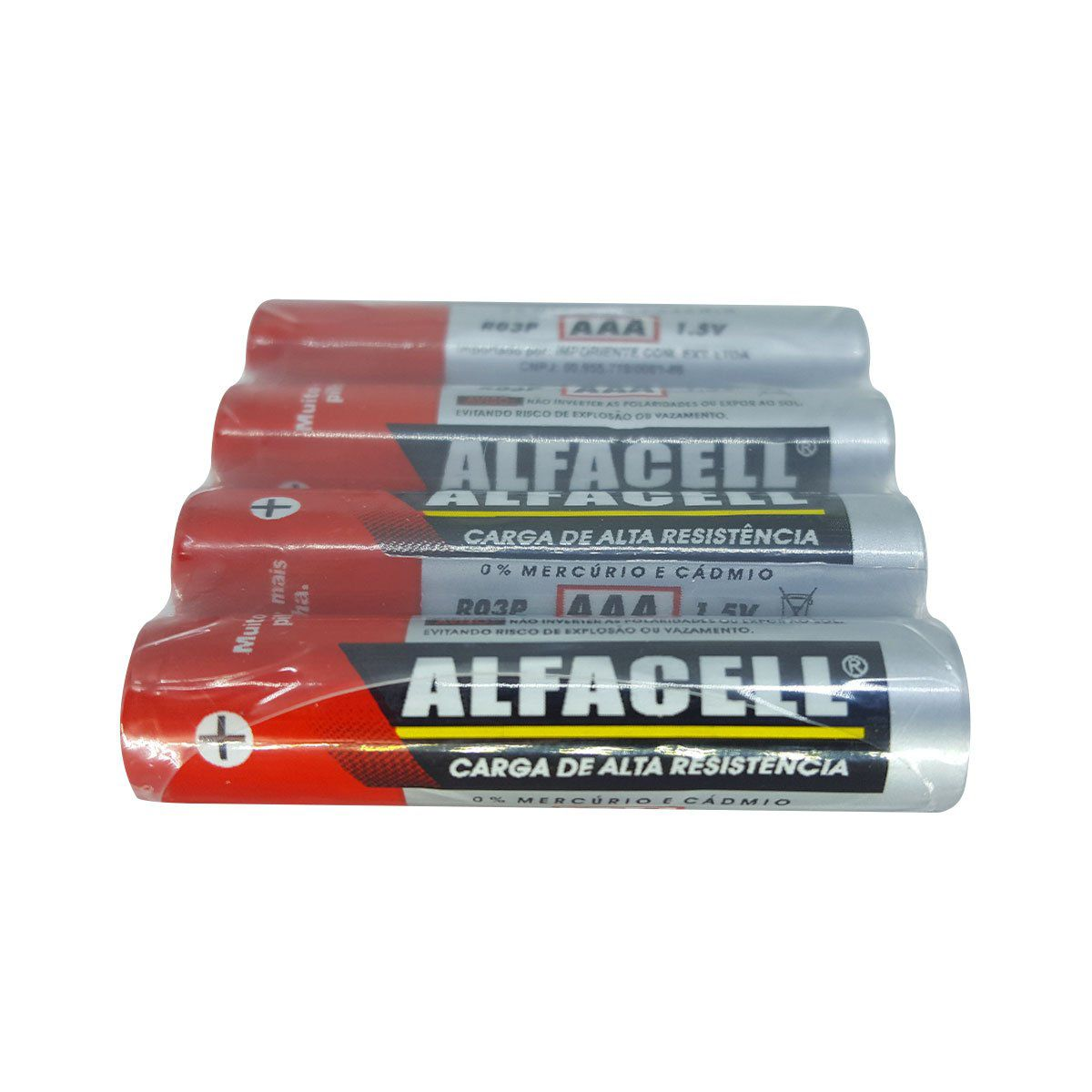 Pilha Alcalina Alfacell AAA R03P4SG - 4 Unidades