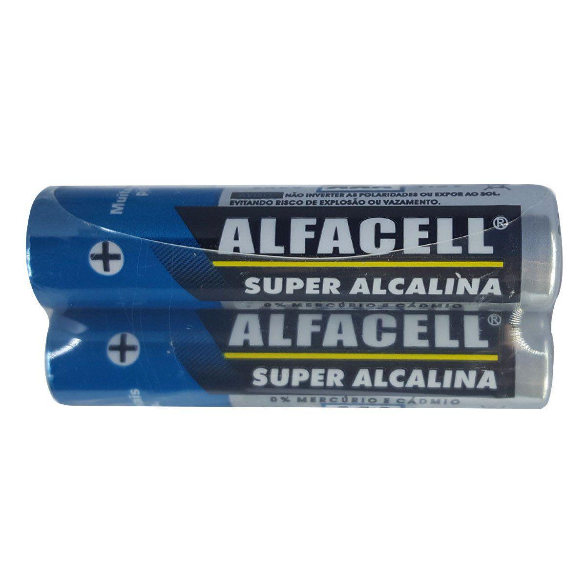 Pilha Alcalina Alfacell AAA LR032S - 2 Unidades