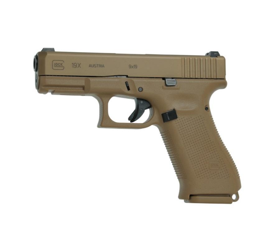 Pistola Glock G19X Coyote 9 mm Semi-Automática + Acessórios