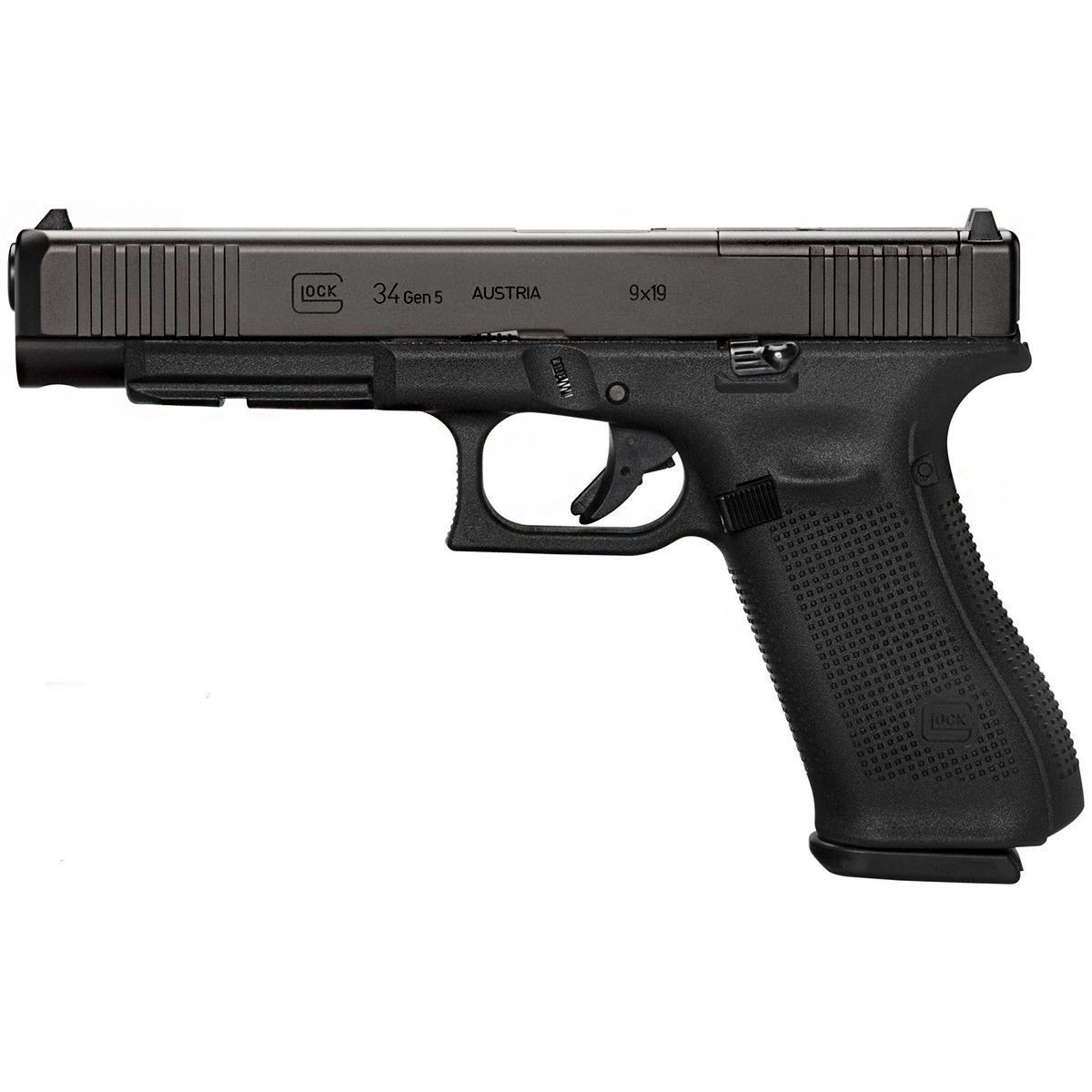 Pistola Glock G34 Gen5 Mos Semi Automática 9 mm