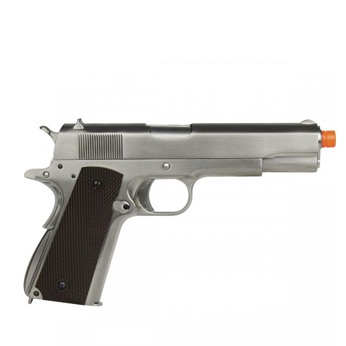 Pistola Airsoft 1911 Matte Brown Cromada GEN 2 Full Metal GBB - WE