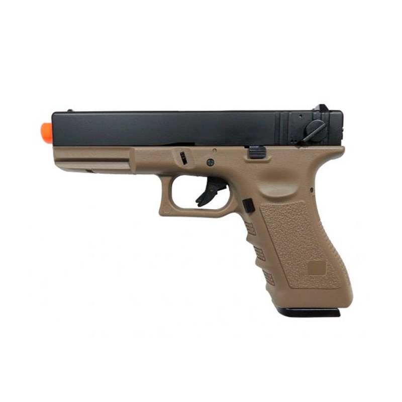 Pistola Airsoft Army Armament GBB Glock R18 6mm Tan BlowBack
