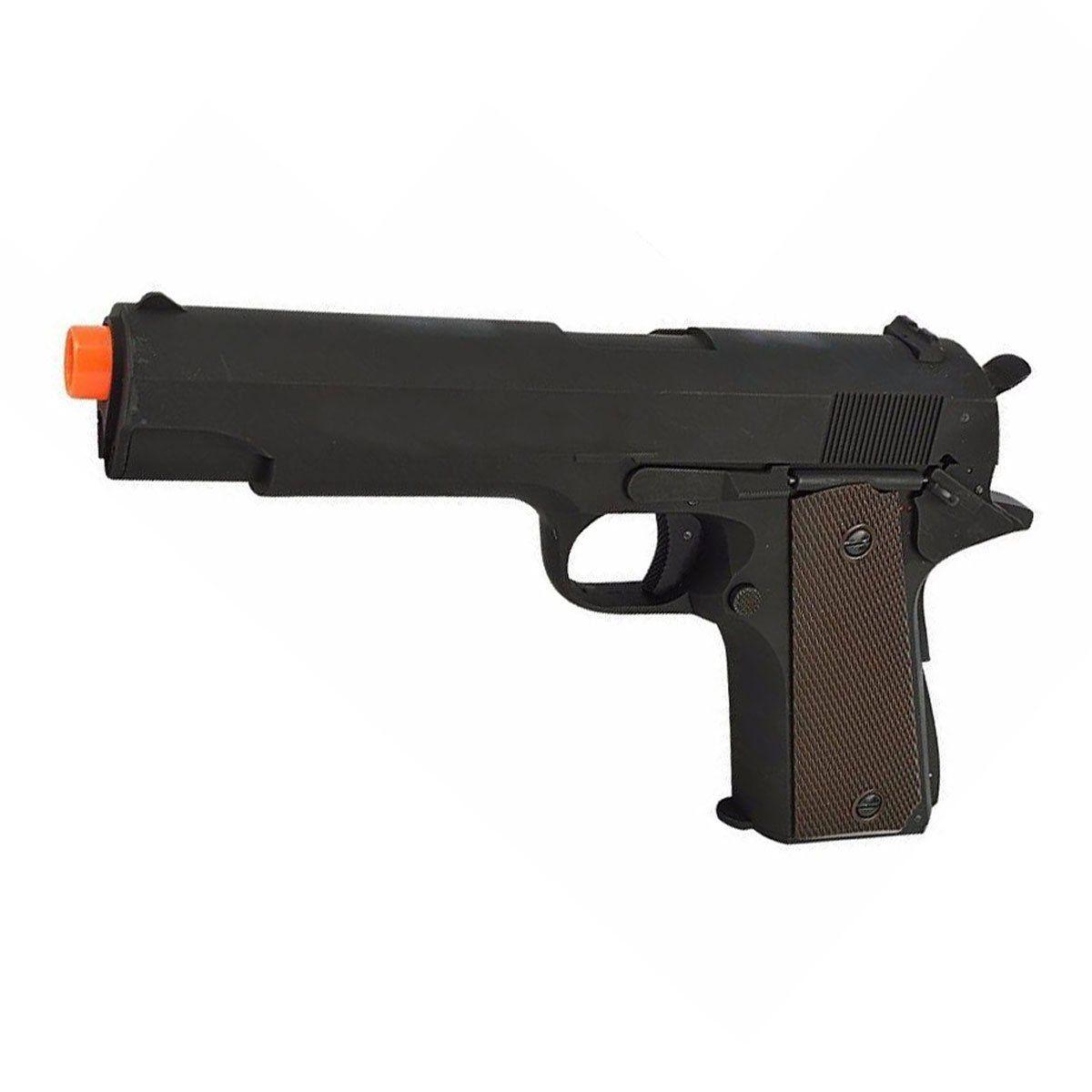 Pist Airsoft CYMA Colt M1911 CM.123 Slide Metal Elétr Bivolt