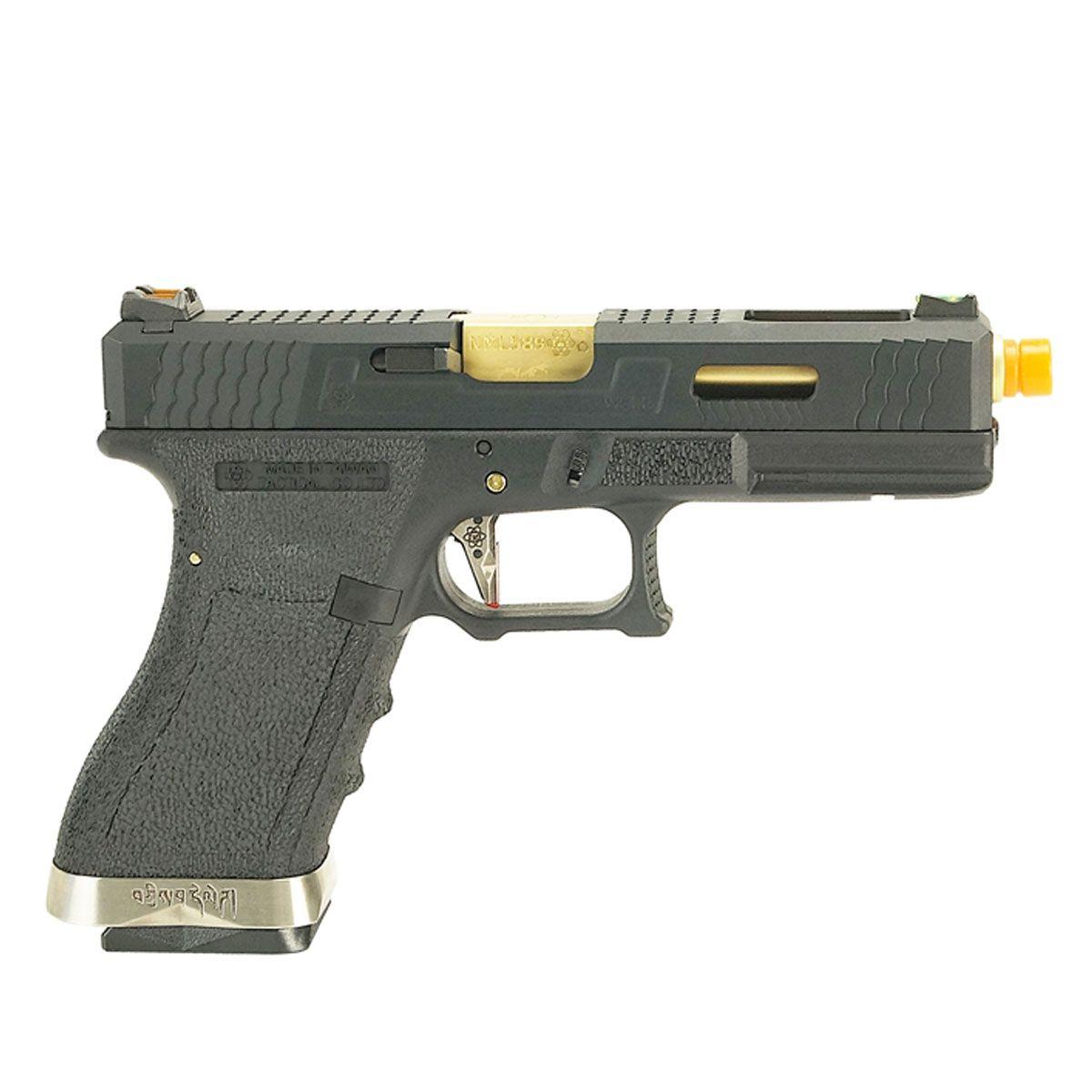 Pistola Airsoft G17 Black WET1 GBB - WE
