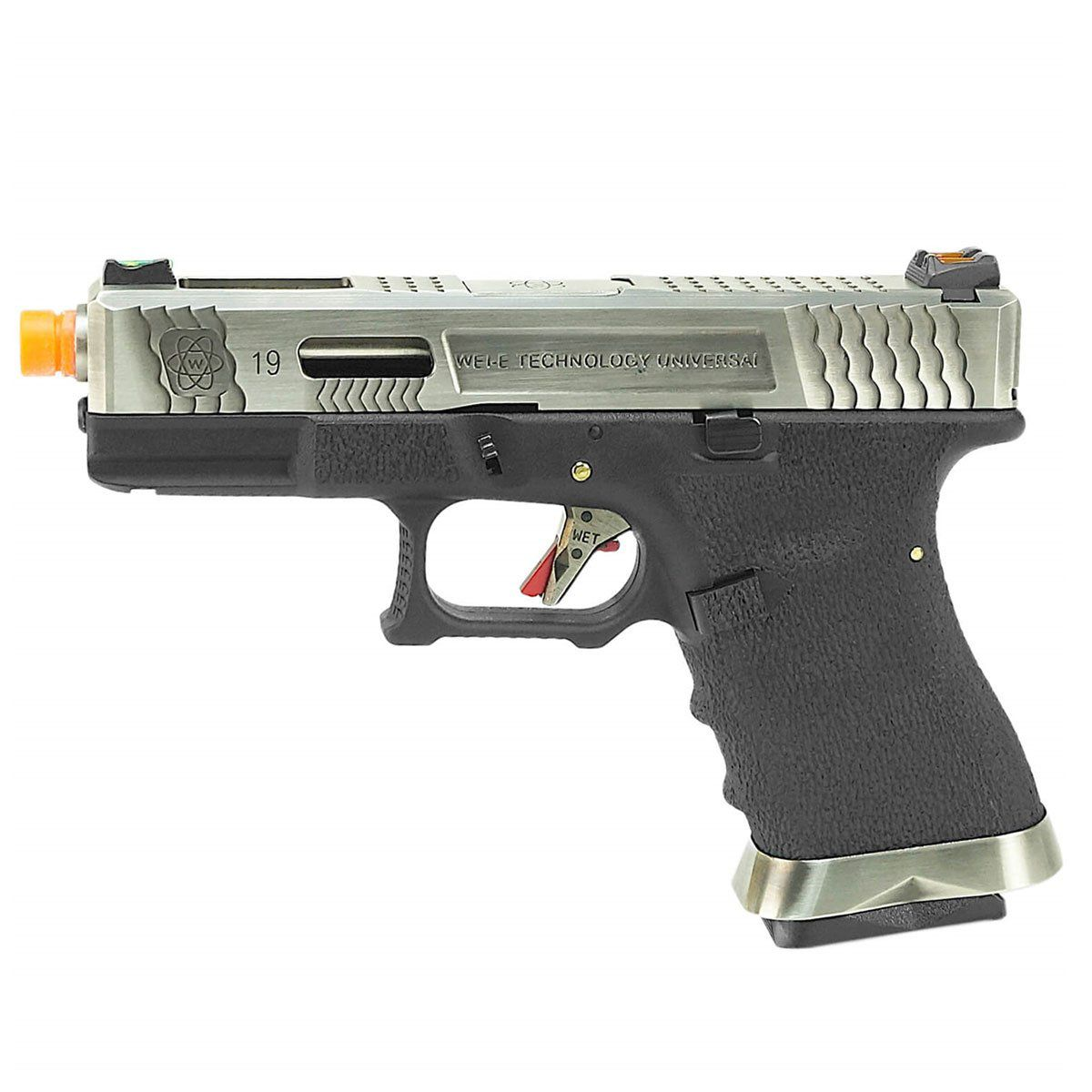Pistola de Airsoft WE G19 WET7 GBB 6mm