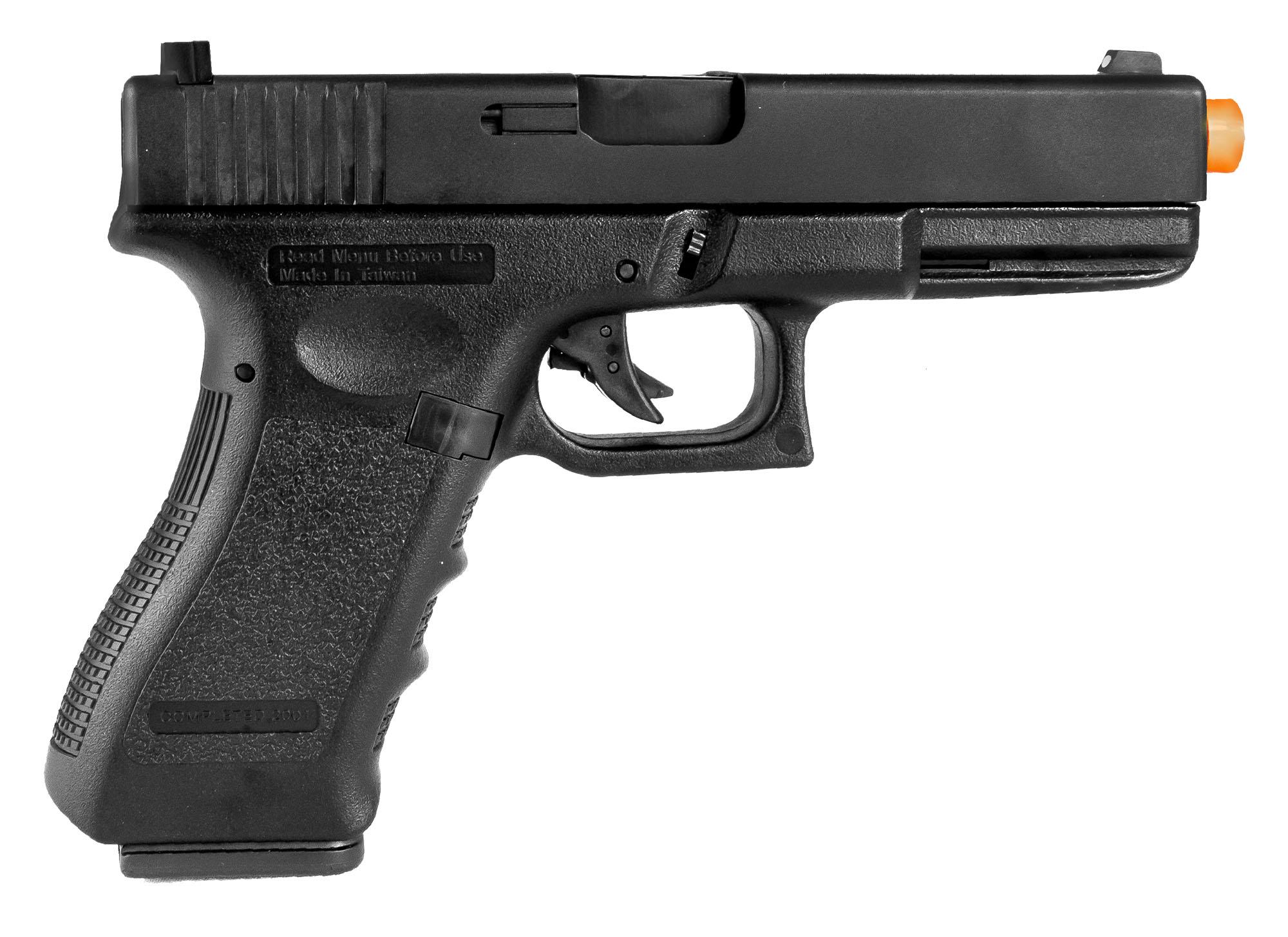 Pistola Airsoft HFC a Gás GBB G18 Blowback com Slide Metal 6mm