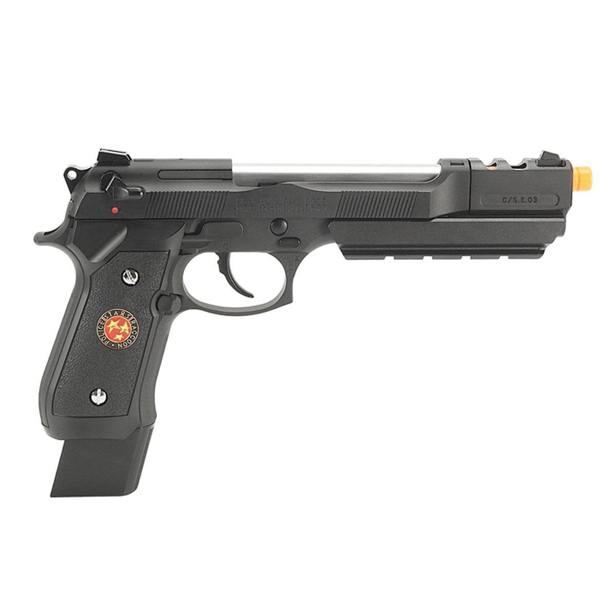 Pistola de Airsoft WE M92 Biohazard Barry Burton Black GBB