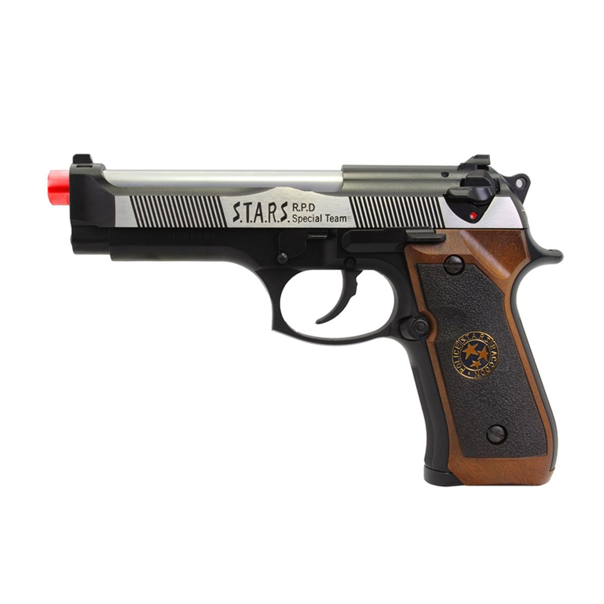 Pistola Airsoft M92 Biohazard Dual Tone Full Metal GBB - WE