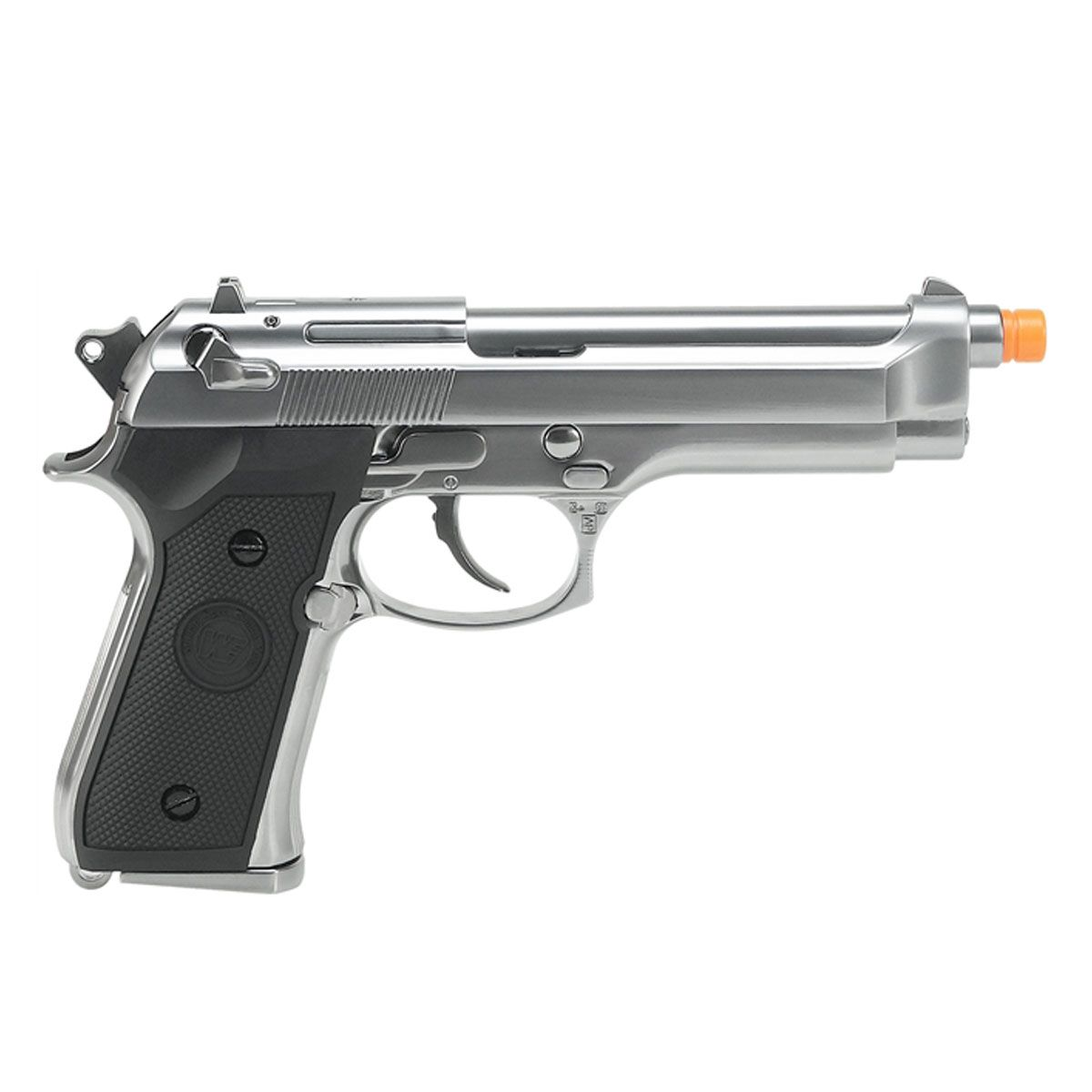 Pistola Airsoft M92 Cromada Full Metal GBB - WE