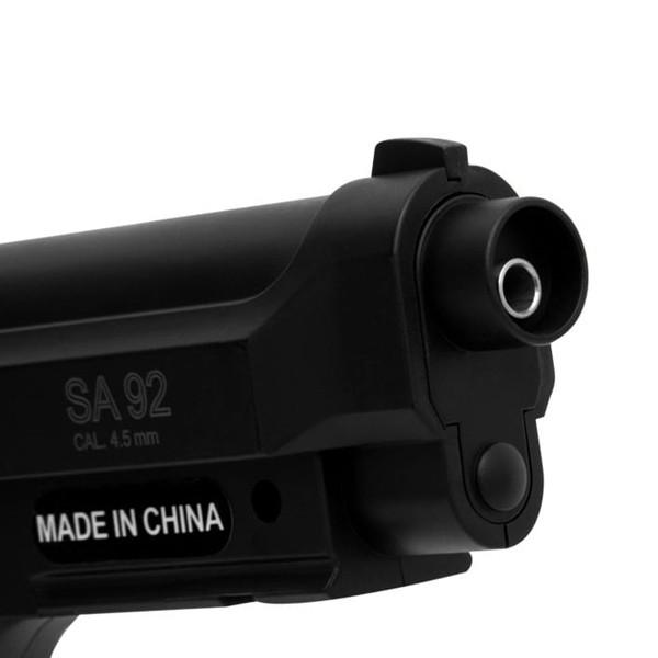 Pistola de Airgun à Gás Co2 Swiss Arms PT92 GNB 4,5mm