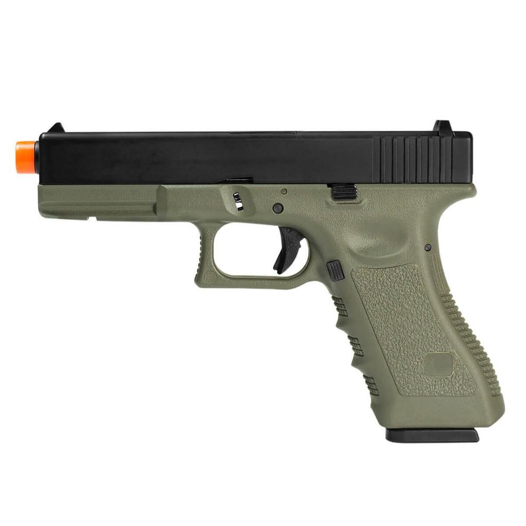 Pistola de Airsoft à Gás GBB Green R18 OD Blowback 6mm Slide Metal - Army