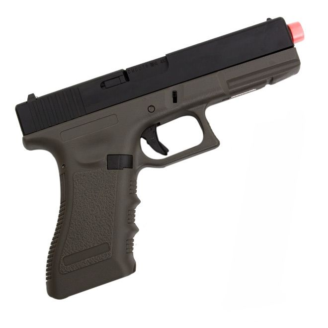 Pistola Airsoft Green Gás GBB R17 OD Blowback Army Armament - 6mm