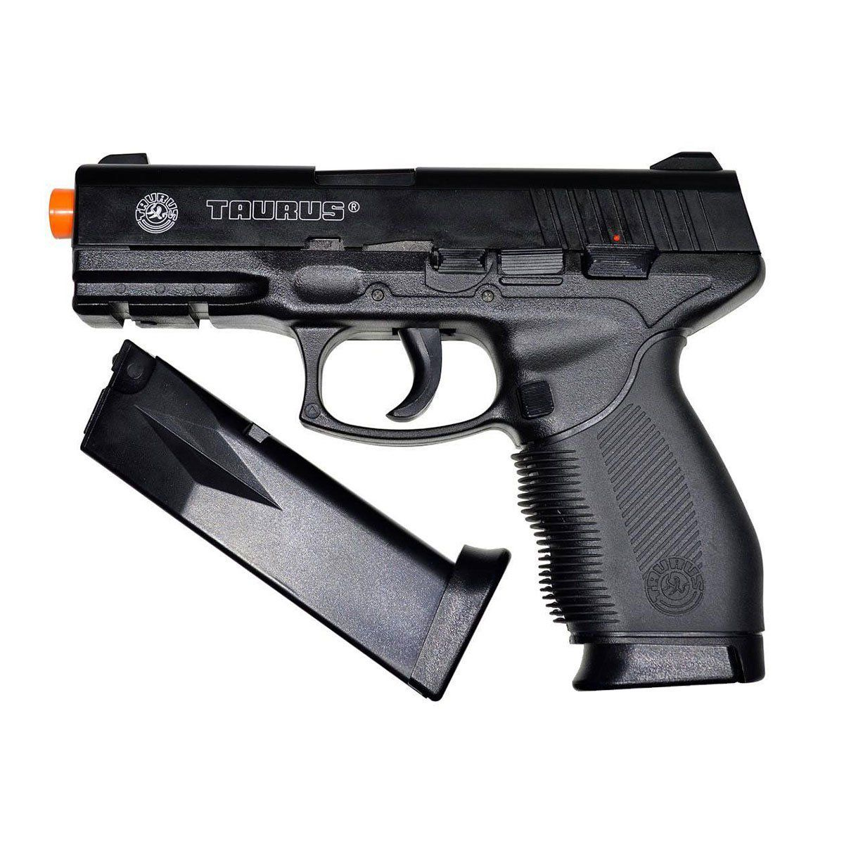 Pistola Airsoft Cybergun Black 24/7 Spring 6mm + Mag Extra
