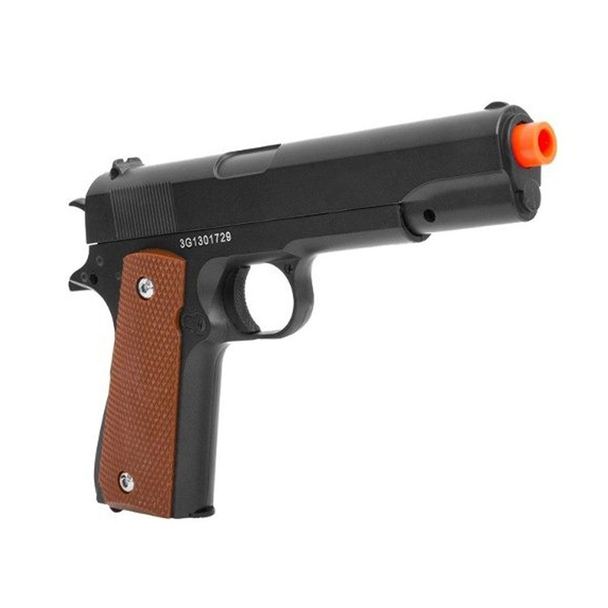 Pistola de airsoft G13 Colt 1911 full metal 6mm + coldre Galaxy