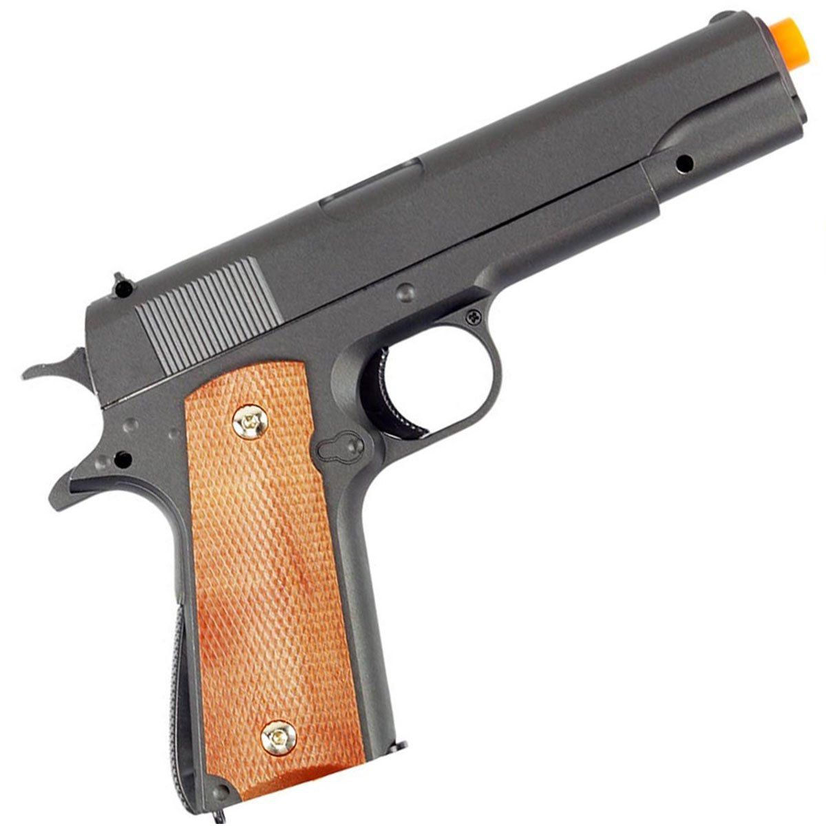 Pist Airsoft Galaxy G13 Colt 1911 Full Metal Spring + Coldre