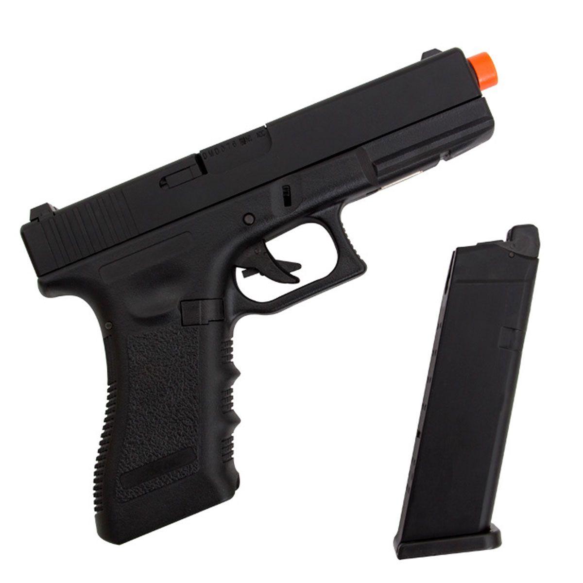 Pistola Airsoft Army Armament Glock R17 Black Blowback GBB 6mm