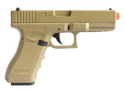 Pistola de Airsoft Glock G18 Cm 030 Tan Elet Plast Bb 6mm