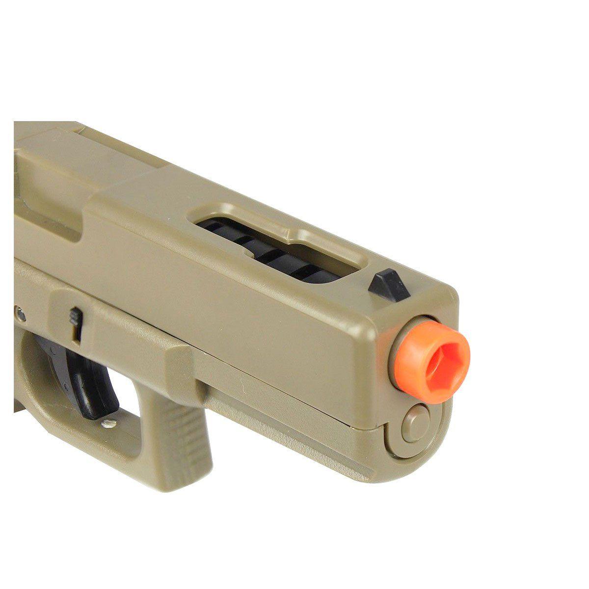 Pistola de Airsoft CYMA CM.030 Glock G18 Elétrica Bivolt