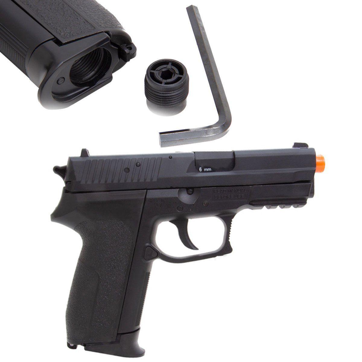 Pistola de Airsoft KWC SIG SP2022 Slide Metal GBB CO2 6mm