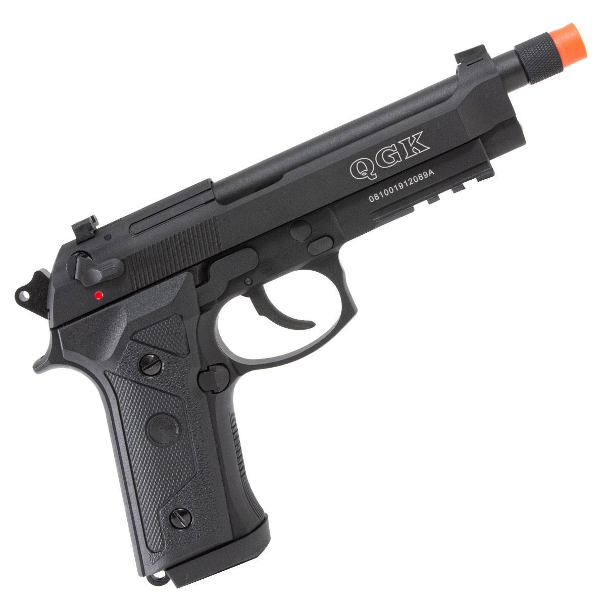 Pistola de Airsoft QGK 92 A3 BK GBB a Gás