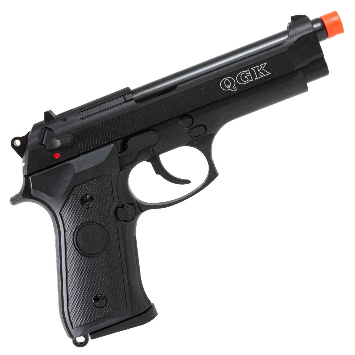 Pistola de Airsoft QGK 92 a Gás GBB Slide Metal BK