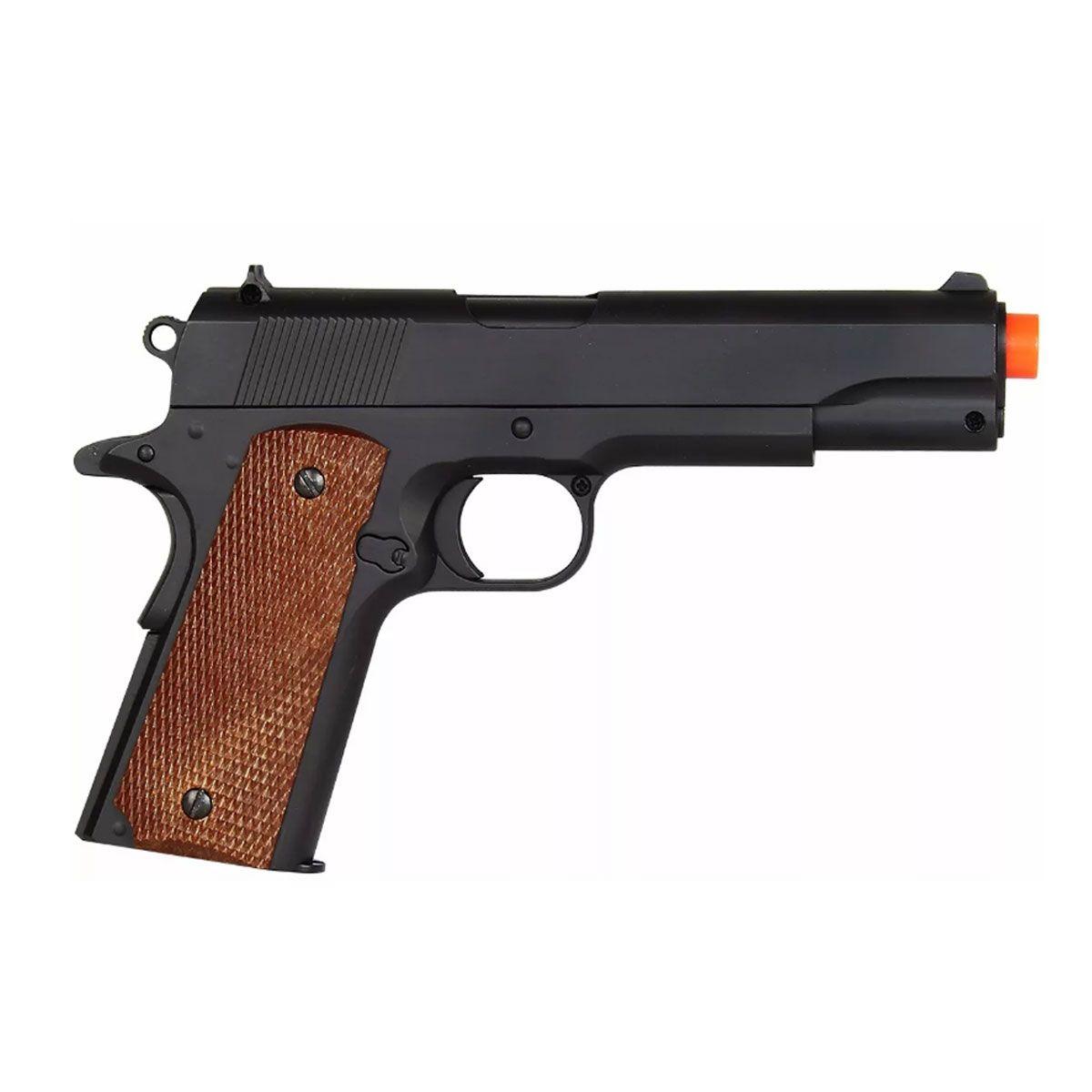 Pistola de Airsoft Spring 1911 A1 Preta