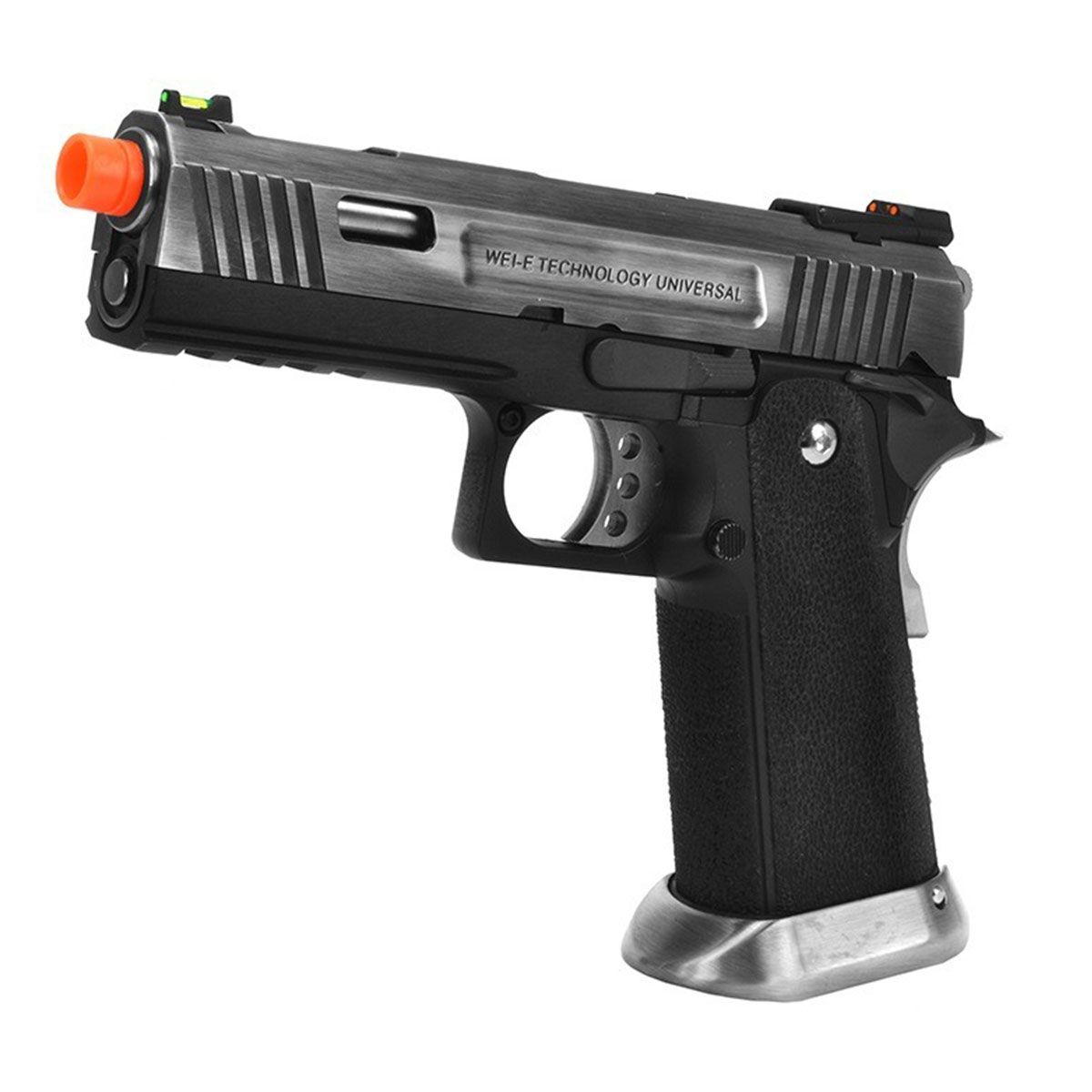 Pistola de Airsoft WE GBB 1911 4.3 ALL SV Silver Blowback 6mm