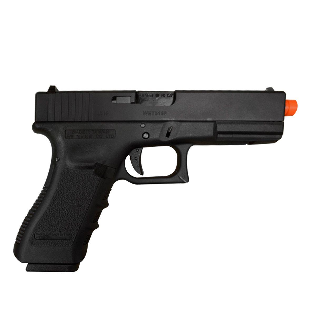 Pistola de Airsoft WE a Gás GBB G17A Blowback GEN 3 Tan 6mm