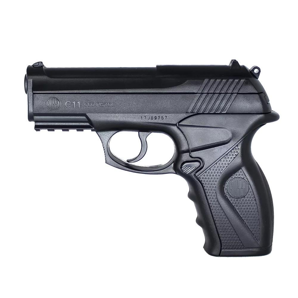 Pistola de Airsoft a Gás CO2 C11 Wingun Stell BB 6mm