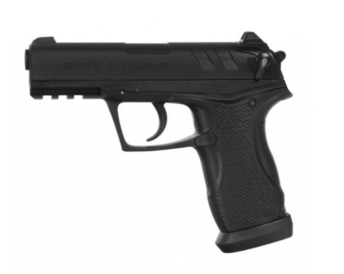 Pistola de Pressão Gamo BBs Co2 C-15 Blowback 4,5mm