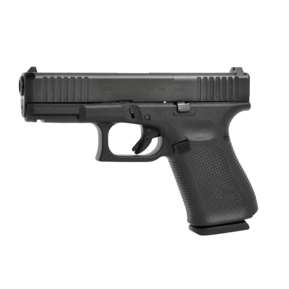 Pistola Glock G19 Gen5 Mos Semi Automática 9 mm + Acessórios