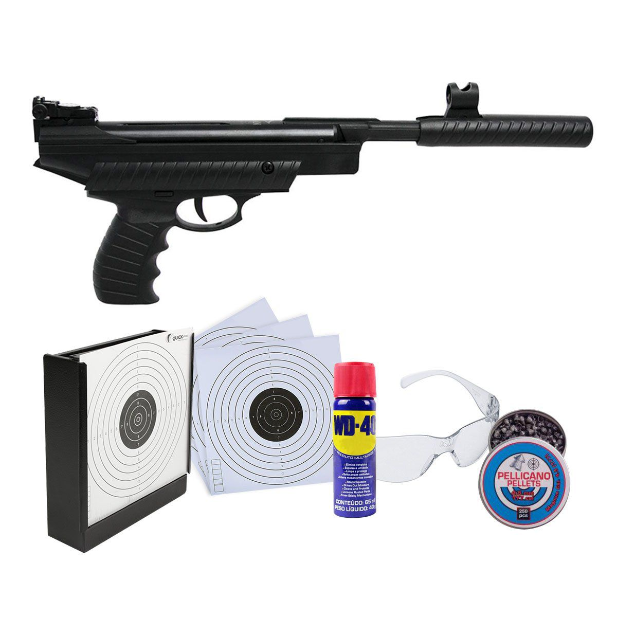Pistola Hatsan HT25 4,5+Colet de Chumbinhos+Alvo+Óleo+Óculos