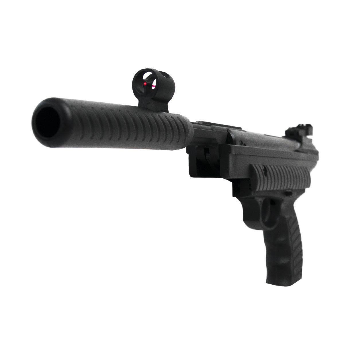 Pistola Pressão Hatsan HT25 Spring 4,5mm+Coletor de Chumbinhos+Alvo+Óleo+Óculos