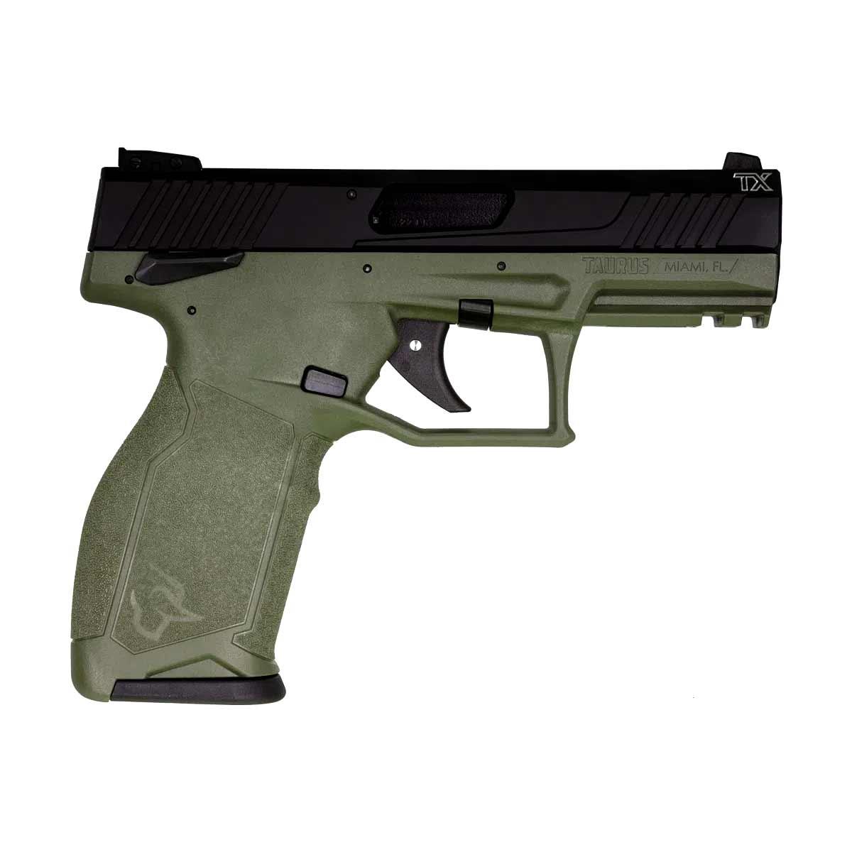 Pistola Taurus TX22, Calibre 22, 16+1, 104mm (4,1POL.) Verde