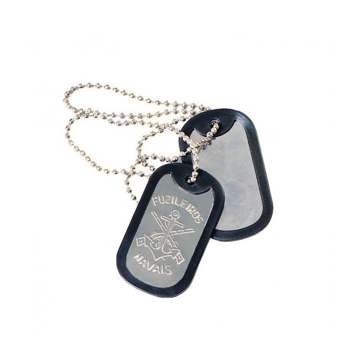 Dog Tag Placa de Identificação Fuzileiro Naval Elite Comandos