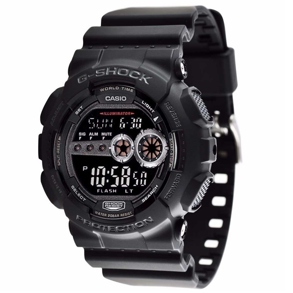 Relógio Casio G-Shock Digital Pulseira Camuflada GD-100-1BDR
