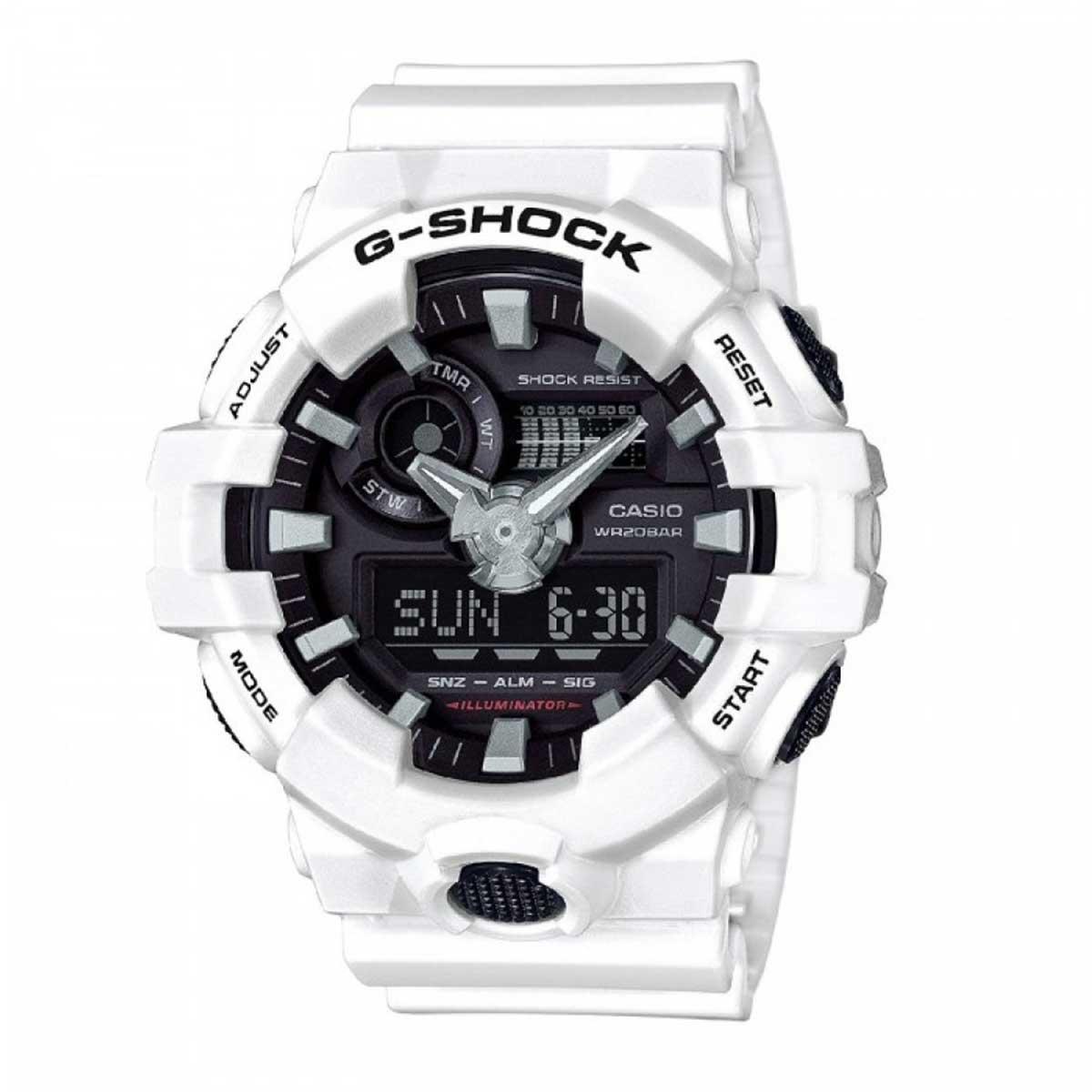 Relógio de Pulso Masculino Casio G-Shock GA-700-7ADR - Branco com Preto