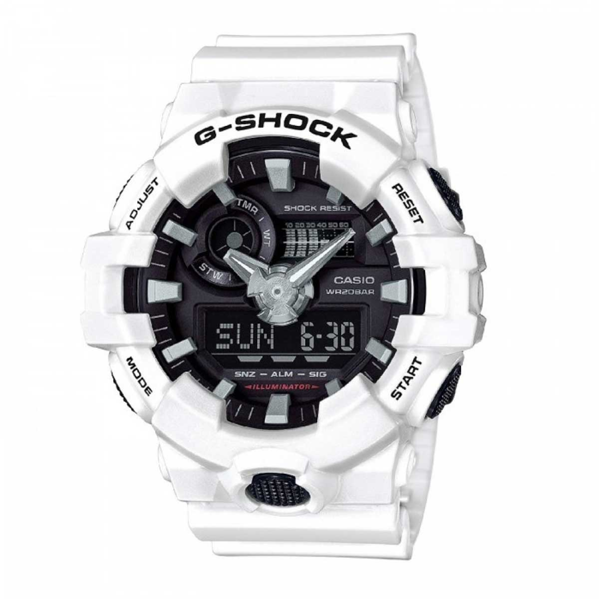 Relógio de Pulso Casio G-ShocK Branco Modelo GA-700-7ADR