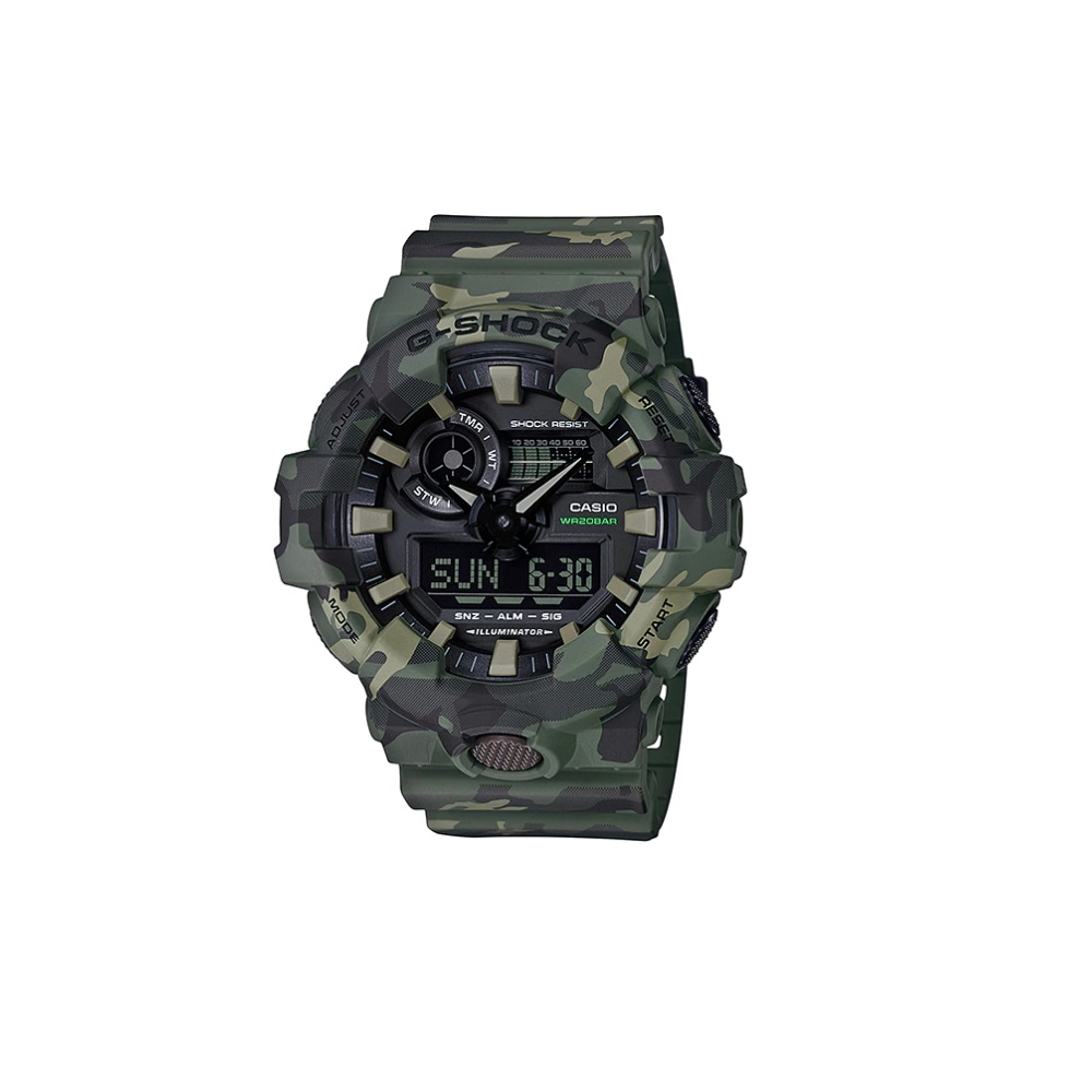 Relógio de Pulso Casio G-ShocK camuf Verde GA-700CM-3ADR