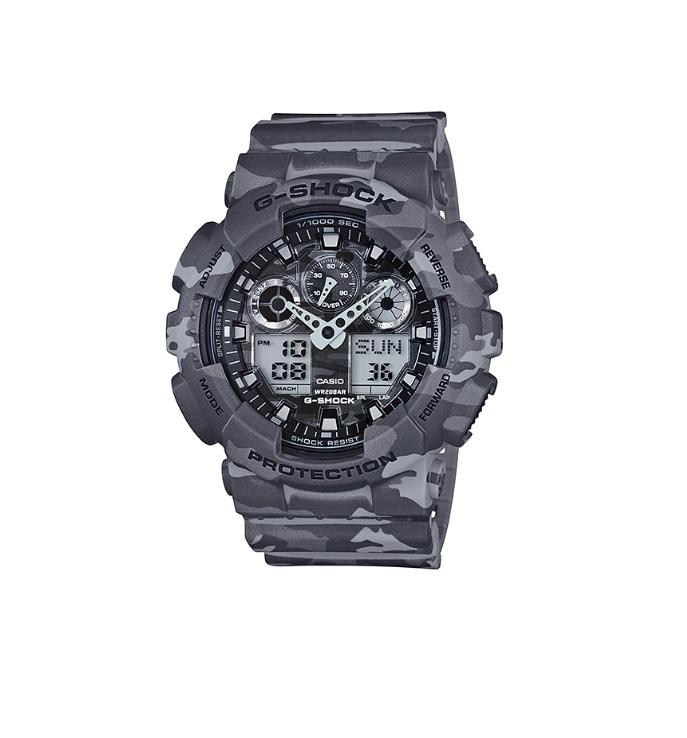 Relógio de Pulso Masculino Casio G-Shock GA-100CM-8ADR - Camuflado