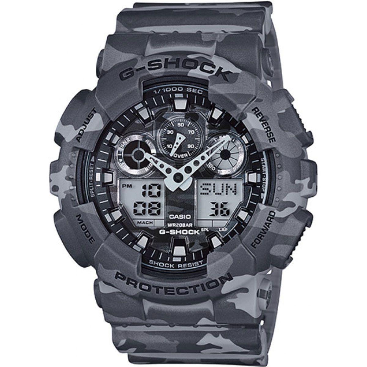 Relógio de Pulso Casio G-Shock Camuflado Modelo GA-100CM-8ADR