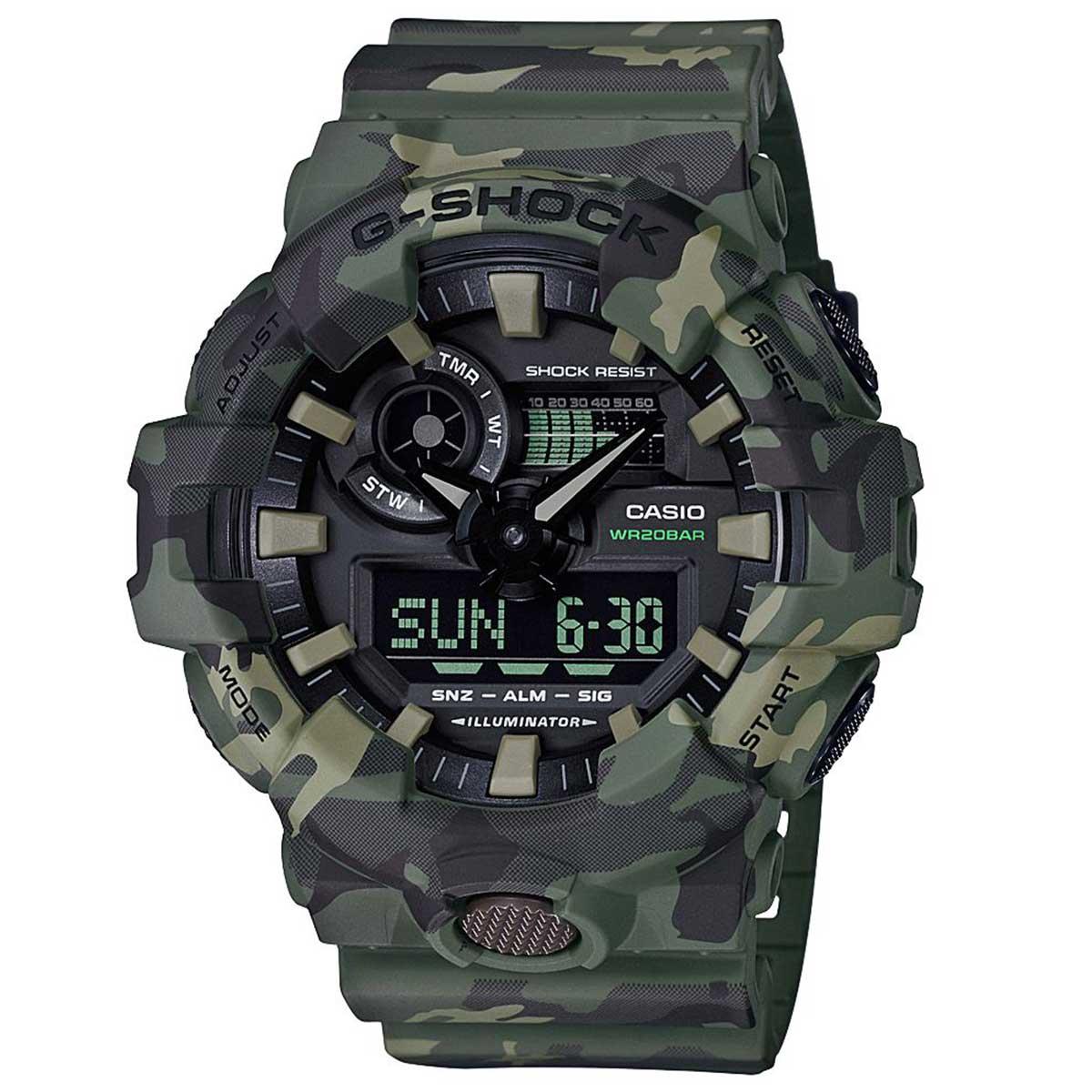 Relógio de Pulso Casio G-ShocK Camuflado Verde GA-700CM-3ADR