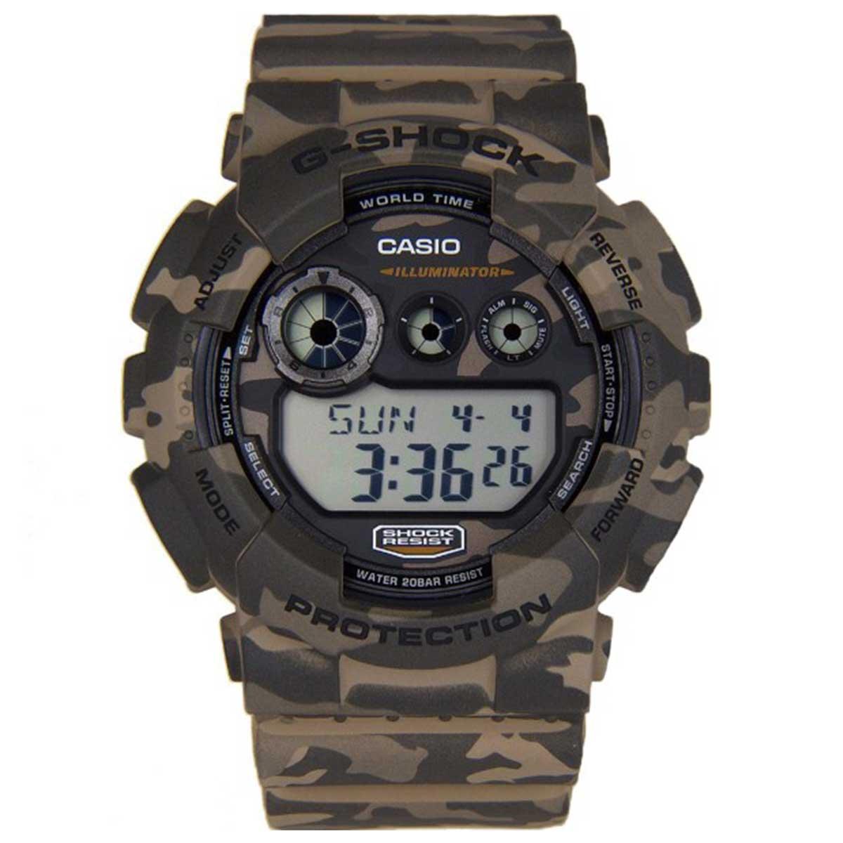 Relógio de Pulso Casio G-Shock Digital camuf GD-120CM-5DR