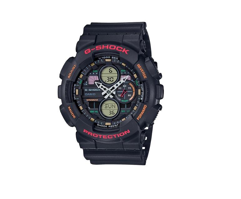 Relógio de Pulso Masculino Casio G-Shock GA-140-1A4DR - Preto com Vermelho