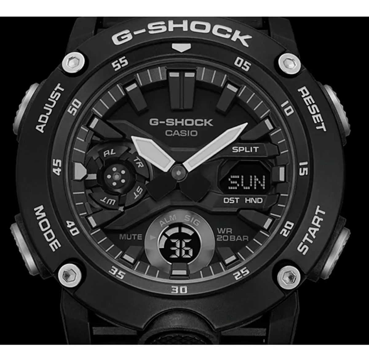 Relógio de Pulso Masculino Casio G-Shock GA-2000S-1ADR - Preto