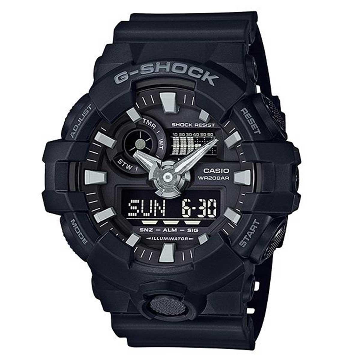 Relógio de Pulso Masculino Casio G-Shock GA-700-1BDR - Preto