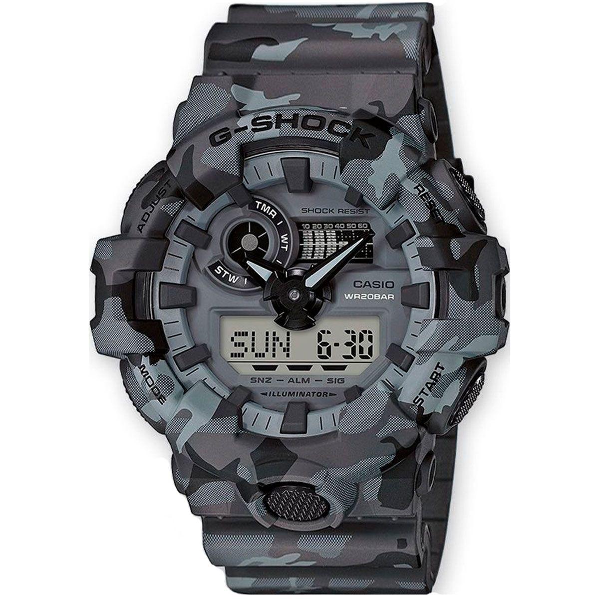 Relógio de Pulso Masculino Casio G-Shock GA-700CM-8ADR - Camuflado Cinza