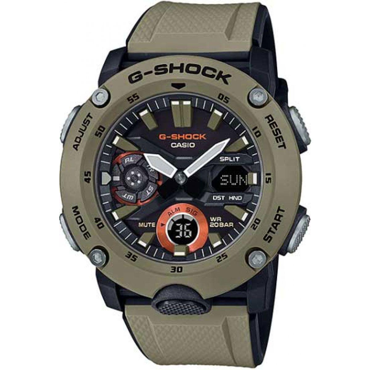 Relógio de Pulso Masculino Casio G-Shock GA-2000-5ADR - Caqui