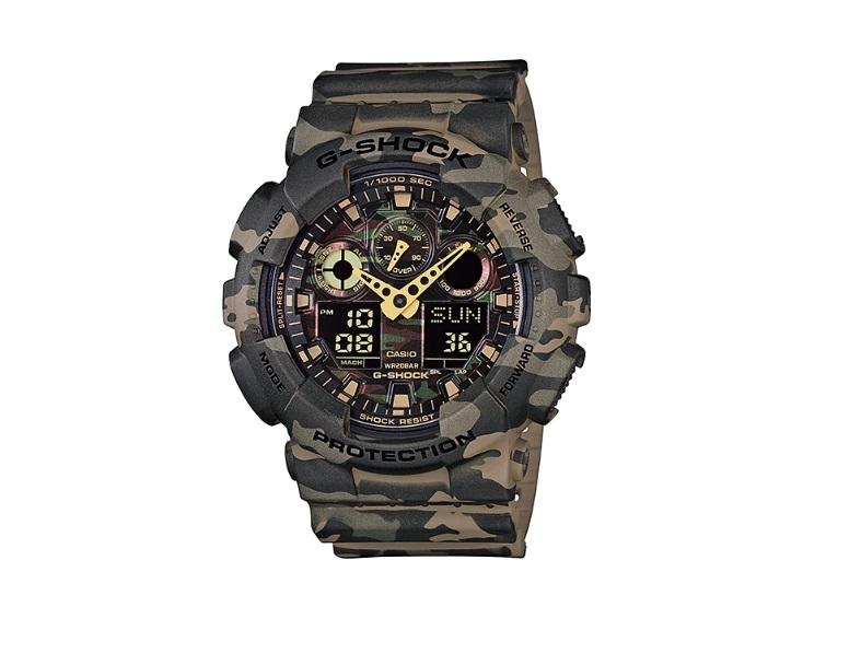 Relógio de Pulso Masculino Casio G-Shock GA-100CM-5ADR - Camuflado