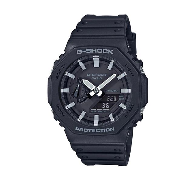 Relógio de Pulso Masculino Casio G-Shock GA-2100-1ADR - Preto com Verde Escuro
